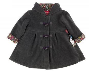 fleece coat grey