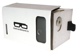 google cardboard virtual reality kit fully assembled