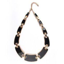 black meena statement necklace