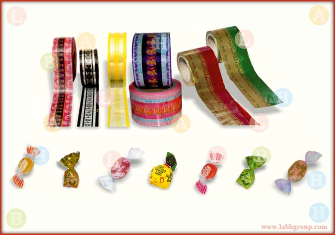Printed Twist Wrap Packing Material for Candies