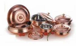 Copper Handi with Cover