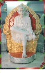 Marble Sai Baba Statue With Gold