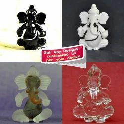 Handmade Lamp Working Glass Ganesha In Various Colors