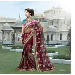Traditional Bollywood Fashion Net Saree