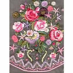 embroidered thread work