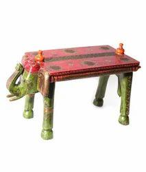 Vaah Wooden Elephant Bench