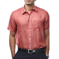 Dull Red Silks Shirts