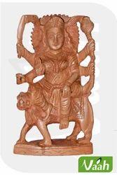 Vaah Carved Wooden Goddess Durga Idol