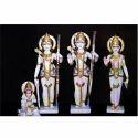 Eyecatching Ram Darbar with Hanuman In White Marble