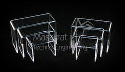 Acrylic - 3 Risers Set Acrylic Display Stand