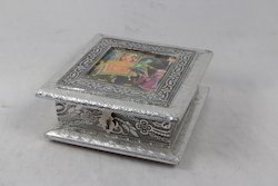 Oxidized Dry Fruit Box with Painting