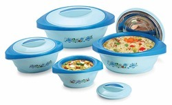 Fusion Hot Pot Set Of 4 Pcs Blue Colour