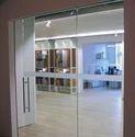 Etching Sliding Glass Door