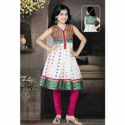 Polka Dots Girls Churidar Suits