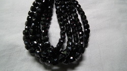 Black Spinel Faceted Cubes