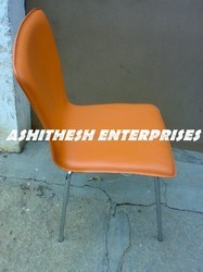 Plain Orange Dining Chair