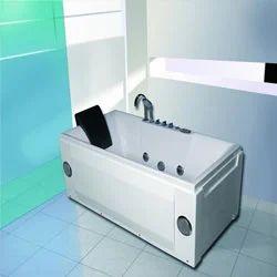Rectangular Whirlpool Bathtub