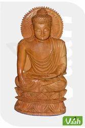 Vaah Carved Wooden Lord Budha Idols