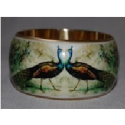 Metal Bangle With Print