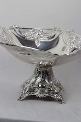 Imported White Metal Fruit Bowl