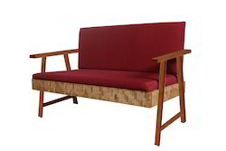 two seat sofa unit in bamboo timber