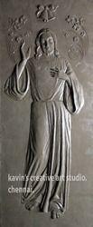 Jesus Relief Sculpture
