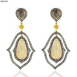 victorian look pearl gold diamond earrings jewelry