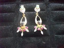 Brass Stone Earrings