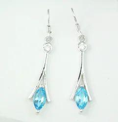 Designer Gemstone Long Earring