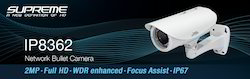 2MP Full HD WDR Enhanced Focus Assist IP67 Network Camera