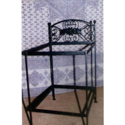 Wrought Iron Fabricated Bedside Table
