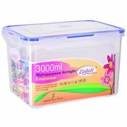 Plastic Locked Airtight Square Container 3000ML