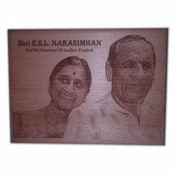 Laser Engraved Wooden Plank