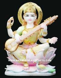 White Saraswati Maa Statue