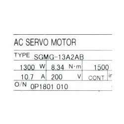 SGMG-13A2AB Servo Motor