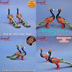 Meenakari Peacock Set - Metal Decorative