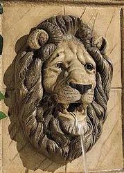 Lion Head Fountain Sculpture