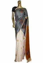 Tussar Printed Silk Saree