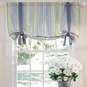 stripe lined tie up valance