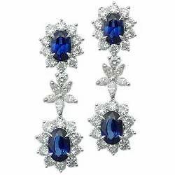 Precious Sapphire Diamond Hangings