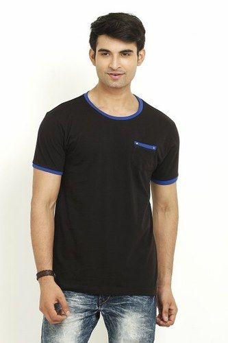 Black Round Neck T Shirt