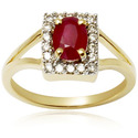 Ruby Studded Gold Ring