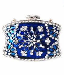 Blue+Diamond+Clutch+Bag