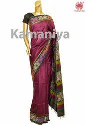 Wedding Handloom Block Printed Sarees
