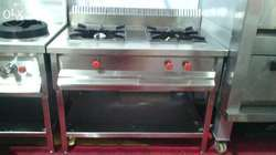 Two Burner Gas Range With Undershelf