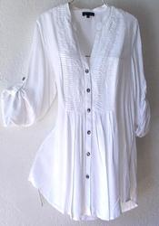 White Cotton Ladies Shirt   Is Shirt