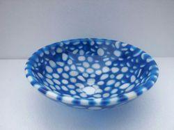 "16"" Marble Blue Resin Bowl"