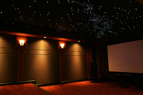 Marvelous Fabric Paneling For Home Theater