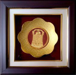 Tirupati Balaji Gold Plated Round Frame