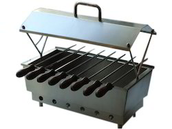Mini Barbeque Set W 8 Skewers